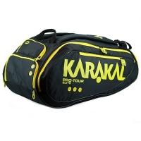 Чехол 10-12 ракеток Karakal Pro Tour Elite Black/Yellow KZ990