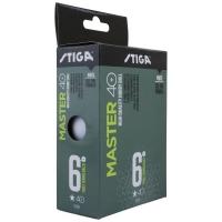 Мячи Stiga 1* Master Plastic ABS x6 White 1111-2410-06