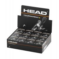 Мячи для сквоша Head 1-Yellow Tournament x1 Box x12 287326