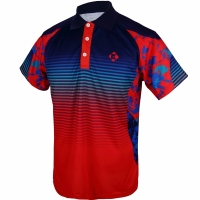 Поло Kumpoo Polo Shirt M KW-8102 Red/Blue