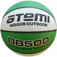 Мяч для баскетбола ATEMI BB500 Green/White