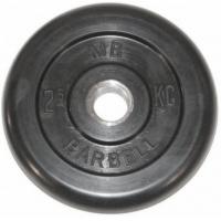 Диск обрезиненный 31mm 2.5kg MB-PltB31-2.5 MB Barbell