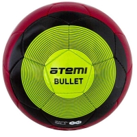 Мяч для футбола ATEMI BULLET WINTER PU Red/Green