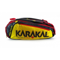 Чехол 10-12 ракеток Karakal Pro Tour Elite Black/Yellow KZ97901