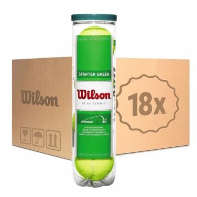 Мячи для тенниса Wilson Green Starter 4b Box x72 WRT137400