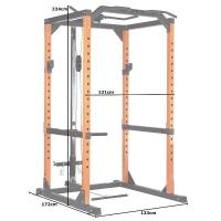 Силовая рама и тяга сверху DCGE03 DFC Black/Orange