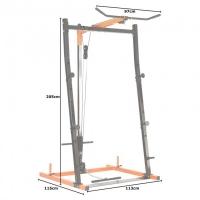 Силовая стойка и тяга сверху DCGE01 DFC Black/Orange