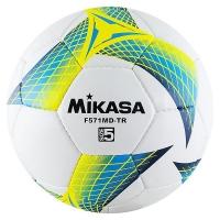 Мяч для футбола Mikasa F571MD-TR-B White/Cyan