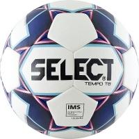 Мяч для футбола SELECT Tempo IMS White/Dark Blue 810416-009