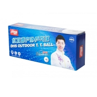 Мячи DHS Outdoor Dual 40+ Plastic ABS x10 White OD40