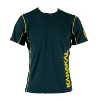 Футболка Karakal T-shirt M Pro Tour Tee Graphite KC551 Yellow/Black