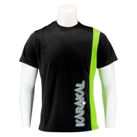 Футболка Karakal T-shirt M Club Tee KC8050 Black/Green