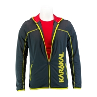 Ветровка Karakal Jacket U Pro Tour KC554 Dark Gray/Yellow
