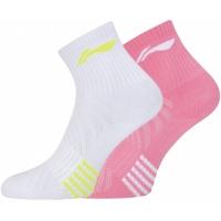 Носки спортивные Li-Ning Socks AWSP328-1 Lady x2 White/Pink