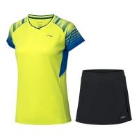 Комплект Li-Ning Kit W T-shirt+Skirt AATP024-4 Yellow/Black