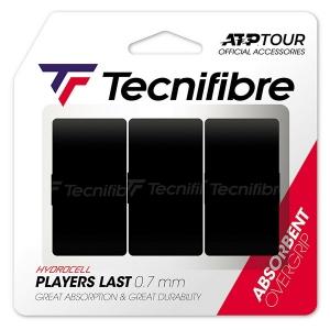Обмотка для ручки Tecnifibre Overgrip Last Players x3 Black 52ATPLASBK