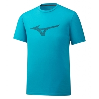 Футболка Mizuno T-shirt M Heritage RB Tee Cyan