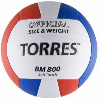 Мяч для волейбола TORRES BM800 White/Red/Blue V30025