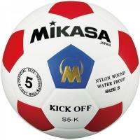 Мяч для футбола Mikasa S5-K-BR White/Cyan/Red