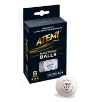 Мячи ATEMI 3* 40+ Plastic ABS x6 White