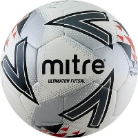 Мяч для минифутбола MITRE Futsal Ultimatch IMS HyperSeam White/Gray A0027WG7