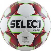 Мяч для минифутбола SELECT Futsal Samba IMS White/Bordo 852618-003