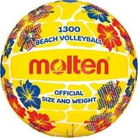 Мяч для пляжного волейбола Molten V5B1300-FY Yellow/Red