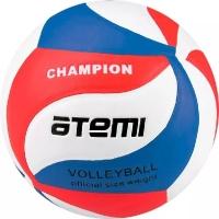 Мяч для волейбола ATEMI Champion PU Soft White/Red/Blue