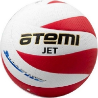 Мяч для волейбола ATEMI Jet PU Soft White/Red