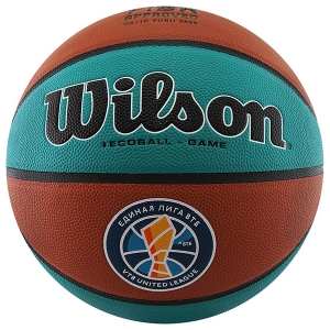 Мяч для баскетбола Wilson VTB SIBUR Gameball ECO Turquoise/Orange WTB0547XBVTB