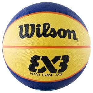 Мяч для баскетбола Wilson FIBA3x3 Replica Mini Yellow/Blue WTB1733XB
