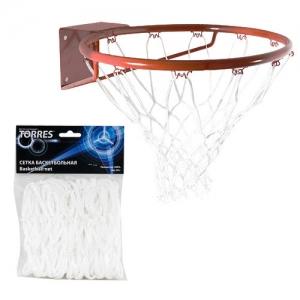 Сетка баскетбольная TORRES 4.0mm White SS11055