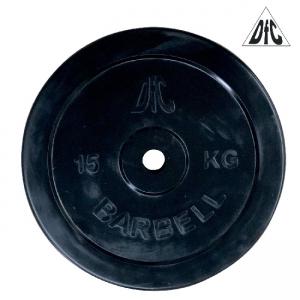 Диск обрезиненный 26mm 15kg Black WP021-26-15 DFC