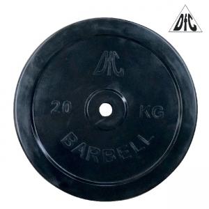 Диск обрезиненный 26mm 20kg Black WP021-26-20 DFC