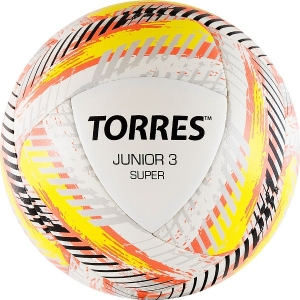 Мяч для футбола TORRES Junior-3 Super White/Yellow/Red F319203