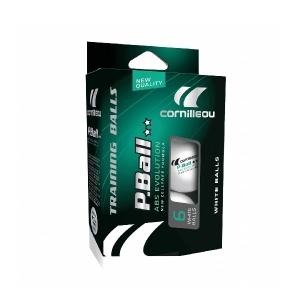 Мячи Cornilleau 2* P-Ball Evolution 40+ Plastic ABS x6 White 330050