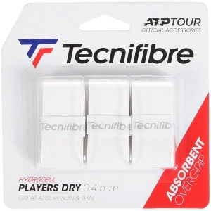 Обмотка для ручки Tecnifibre Overgrip Players Dry x3 White 52ATPPLDRY