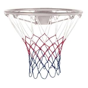 Сетка баскетбольная ATEMI 3.5mm White/Red/Blue T4011N3