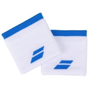 Напульсник Babolat Wristband Logo x2 1030 White/Blue 5UA1261