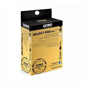 Мячи Gewo 3* Select Pro 40+ Plastic x6 White