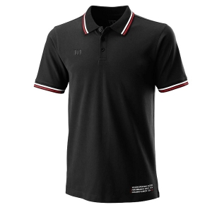 Поло Wilson Polo Shirt M Since 1914 Pique Black WRA780102