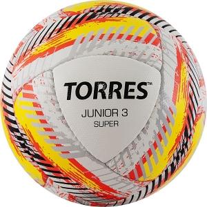 Мяч для футбола TORRES Junior-3 Super HS White/Yellow/Red F320303