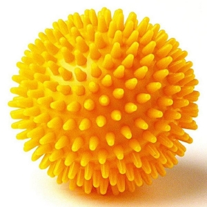 Массажный мяч 8cm Yellow r300108 MADE IN RUSSIA