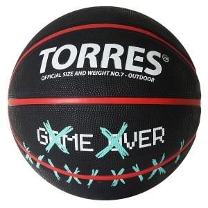 Мяч для баскетбола TORRES Game Over Black B0221