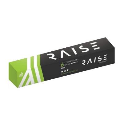 Мячи Raise 3* SL Competition 40+ Plastic x6 White
