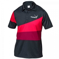Поло Yasaka Polo Shirt M Castor Black/Red