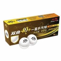 Мячи Double Fish 1* 40+ Plastic x10 White