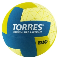 Мяч для волейбола TORRES Dig Yellow/Blue V22145