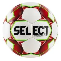 Мяч для минифутбола SELECT Indoor Five White/Red 852708-103
