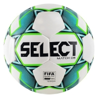 Мяч для футбола SELECT Match DB FIFA White/Turquoise 814020-004